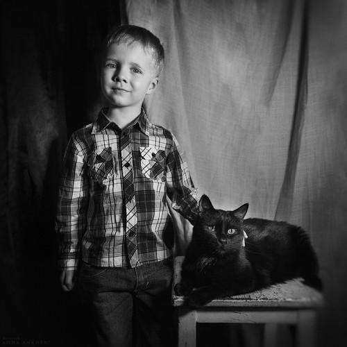 Алёша и кот Бегемот. Санкт-Петербург, 2016