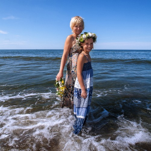 Наталья с дочкой Лизой. Светлогорск, 2014