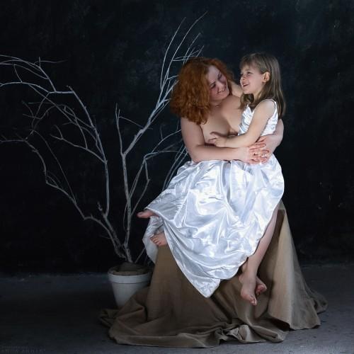 Наталья с дочкой Таней. Санкт-Петербург, 2014