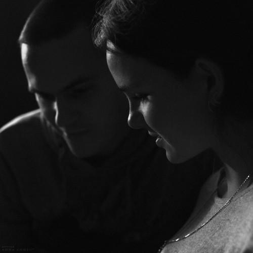 Моя сестра и её жених Максим за месяц до свадьбы. Калининград, 2014